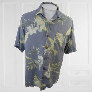 Tommy Bahama Men Hawaiian camp shirt M floral silk